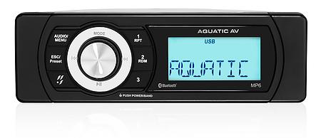 Aquatic AV MP6 Waterproof Marine Stereo Shallow-Mount