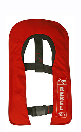 AXIS Rebel Junior 100 Auto-Inflating Life Jacker Red for Children 25-to 50kg