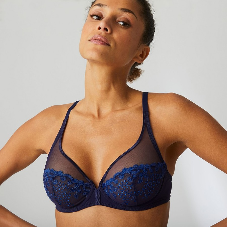 Delice Full Cup Plunge in Midnight Blue *Limited Stock, Please Call Before Ordering* - Image 1