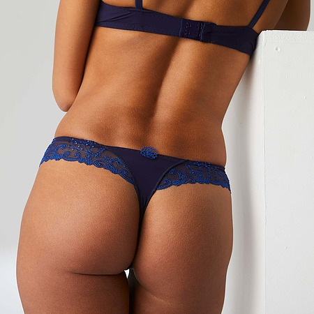 Delice Thong in Midnight Blue - Image 2