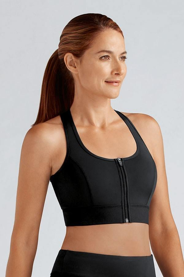 Zipper Sports Bra - Image 1