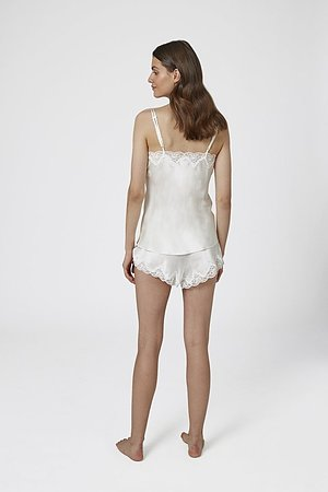 Silk Pintuck Camisole and Boxers - Image 4
