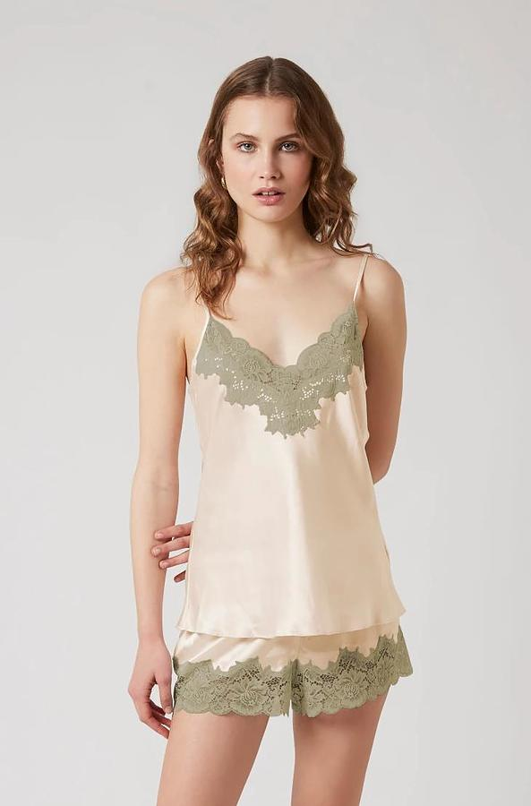 Silk Cami and Knicker Set - Image 1