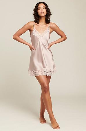 Silk Chemise With Lace - Image 4