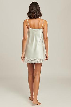 100% Silk Chemise With Lace - Image 6
