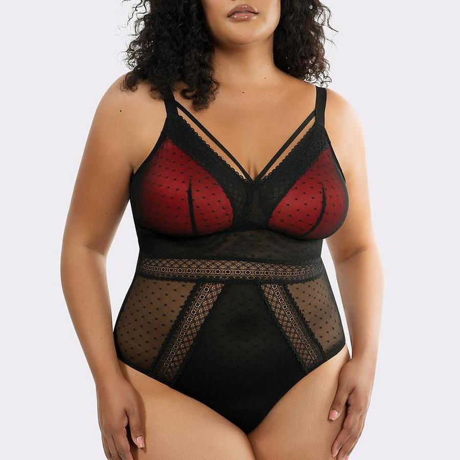 Mia Dot Wirefree Bodysuit - Image 1