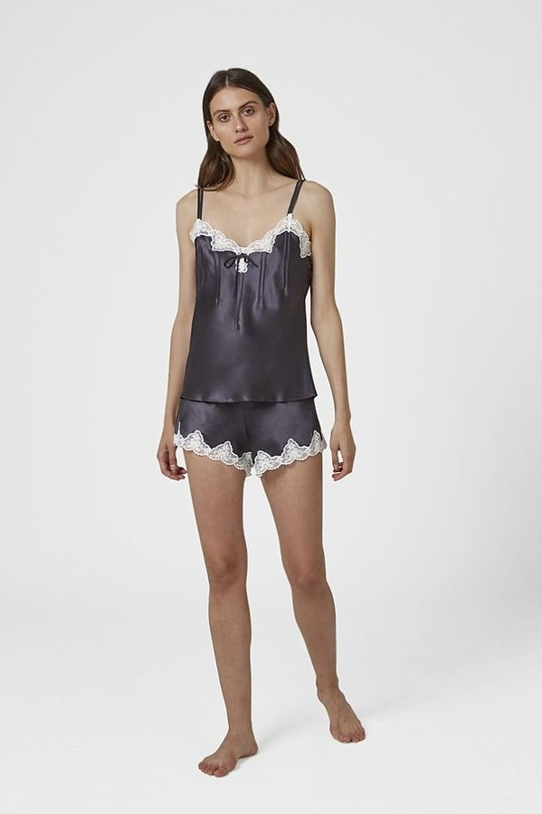 Silk Pintuck Cami and Knicker Set - Image 1