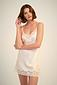 Silk Chemise With Lace - Image