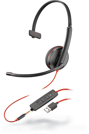 Plantronics Blackwire 3215 USB-A and 3.5mm