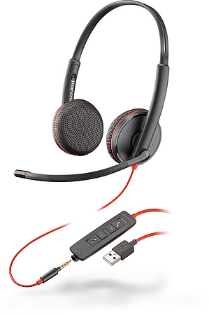 Plantronics Blackwire 3225 USB-A and 3.5mm