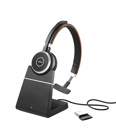Jabra Evolve 65 UC Mono with Charging Stand