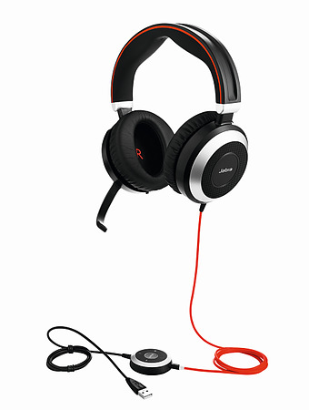 Jabra Evolve 80 MS Stereo USB Headset with Active Noise Cancelling