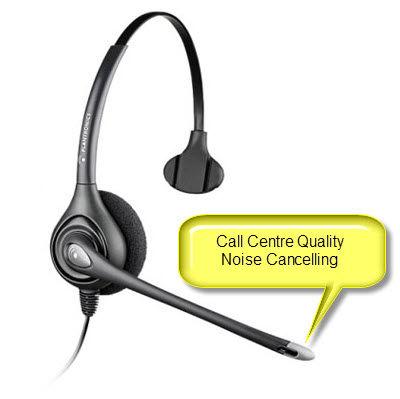 Plantronics HW251N SupraPlus Monaural Noise Cancelling Headset Top
