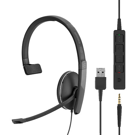 Sennheiser SC 135 Mono Headset USB and 3.5mm