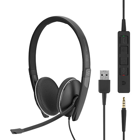 Sennheiser SC 165 Stereo Headset USB and 3.5mm