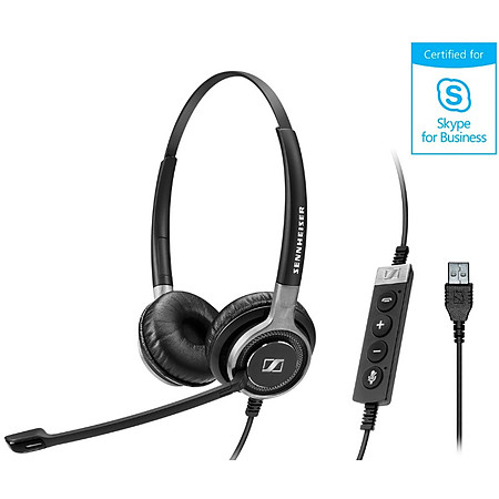 Sennheiser SC 160 USB Headset for Business Professionals - Double-Sided Binaural with HD Stereo Sound 508315 Noise Canceling Microphone USB Connector Black
