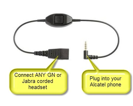 Jabra 3.5mm Alcatel Cable