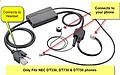 NEC APN-91 EHS Cable for Plantronics