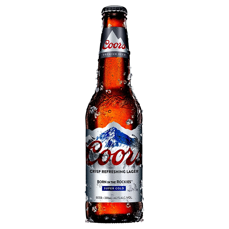 Coors Lager Stubby 330ml - Image 1