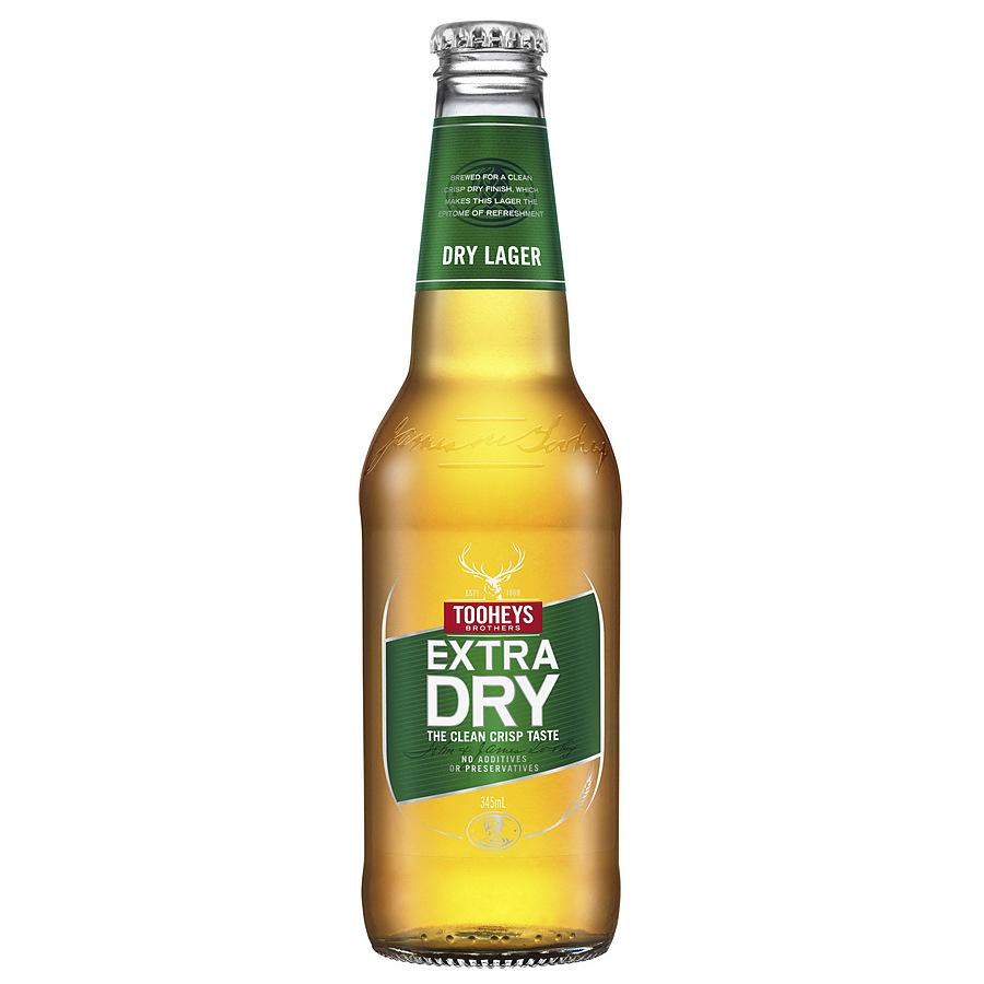 Tooheys Extra Dry Stubby 375ml - Image 1