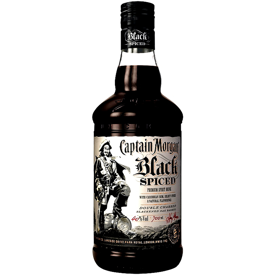 Captain Morgan Black Spiced Rum 700ml - Image 1