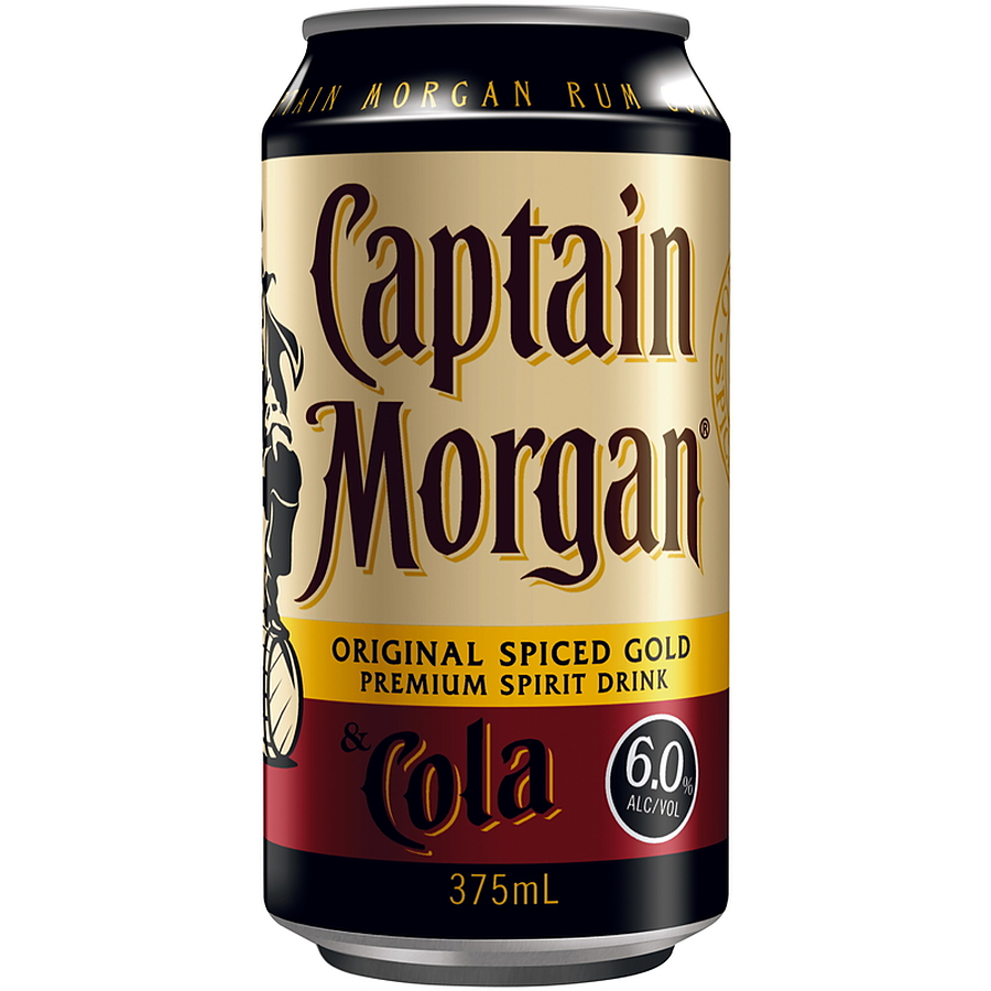 Captian Morgan Spiced Gold And Cola 6% Can - Image 1