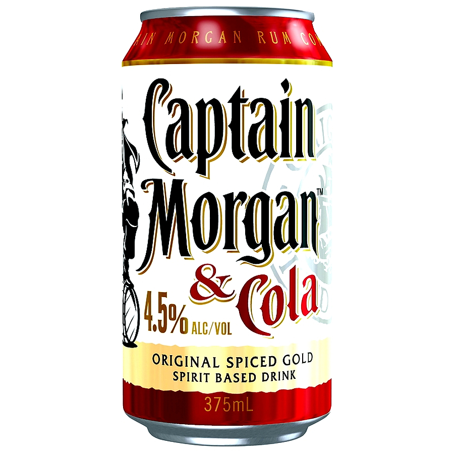 Captain Morgan Spiced Gold And Cola 4.5% - Image 1