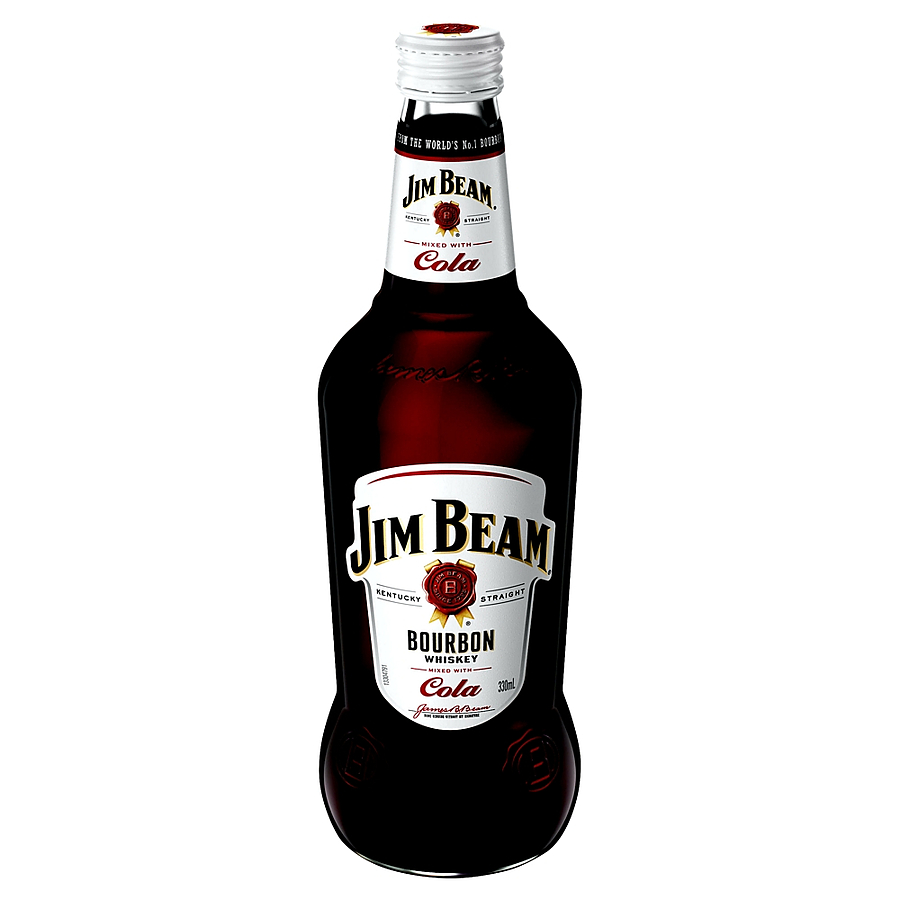 Jim Beam White Label And Cola 4.8% 330ml