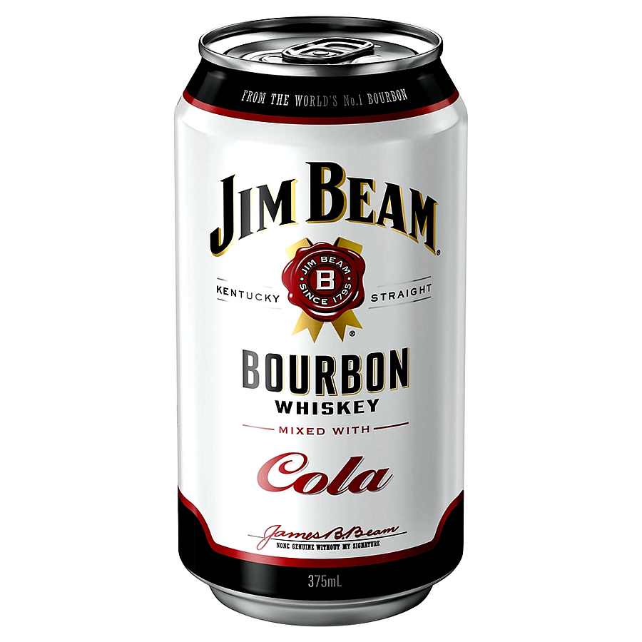 Jim Beam White Label And Cola 4 8 Can Ready To Drink