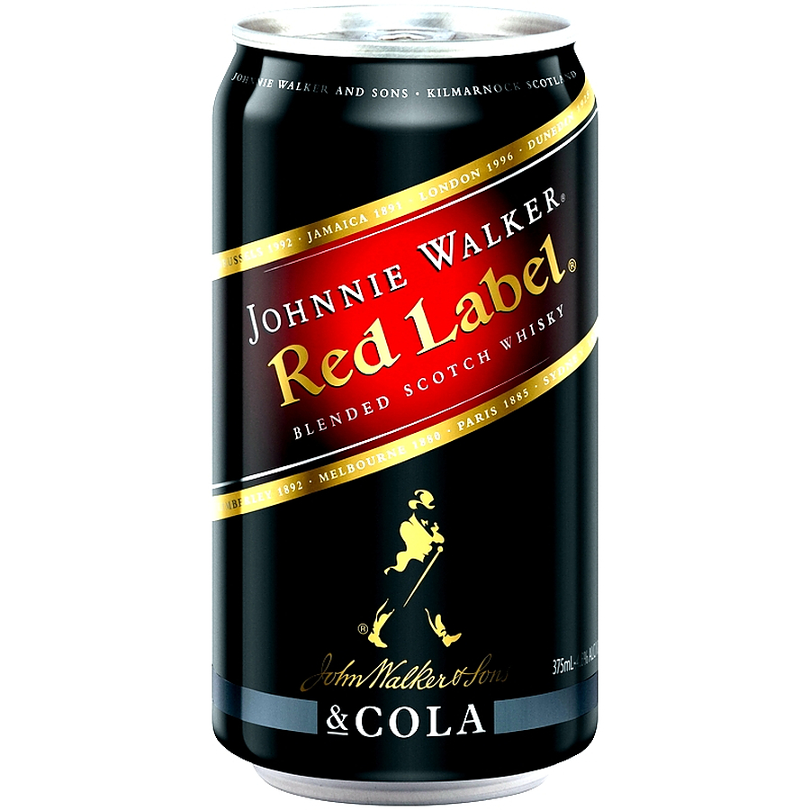 Johnnie Walker Red Label And Cola 4.6% Can