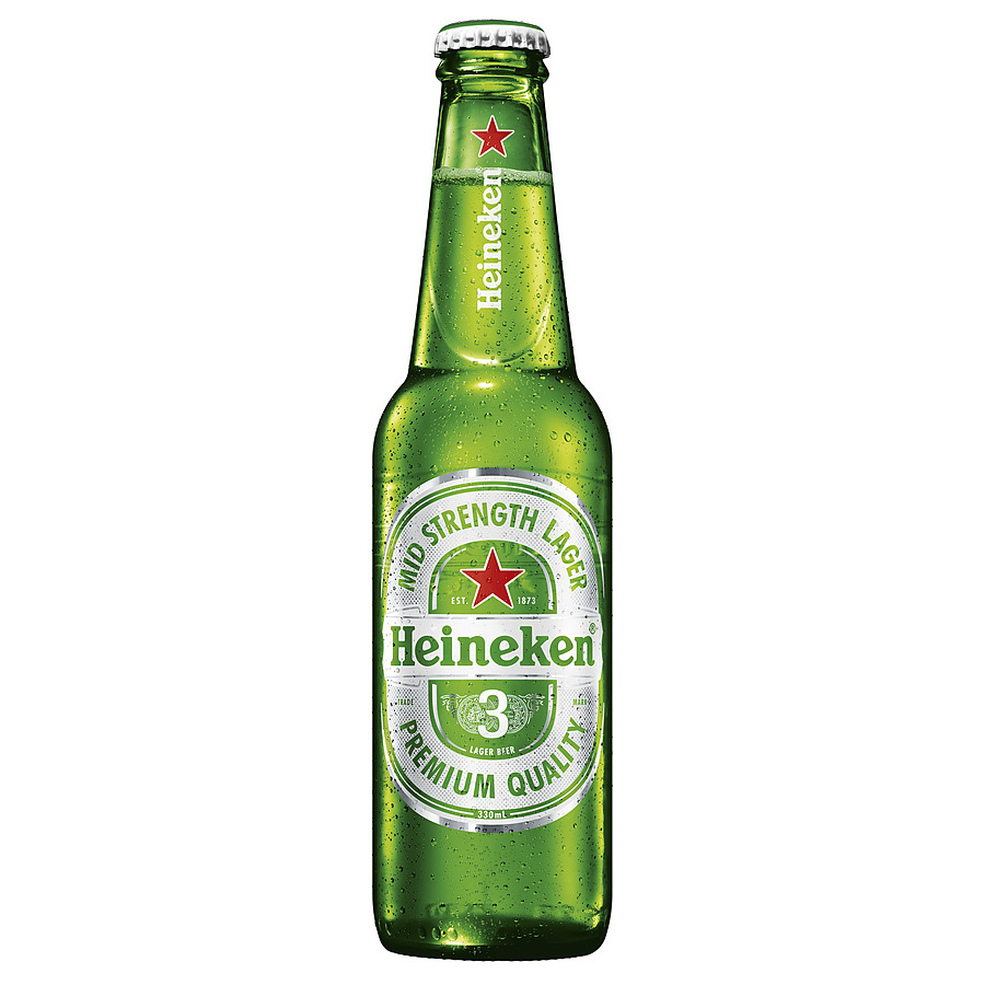 Heineken 3 Midstrength Lager - Image 1