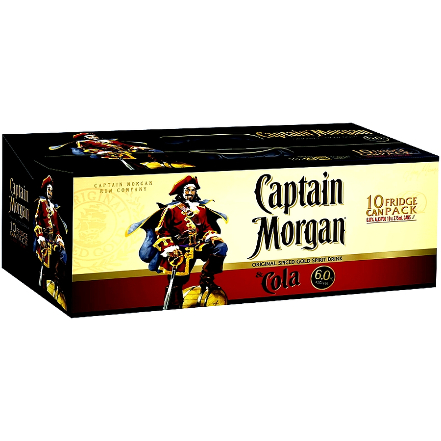 Captain Morgan Spiced Gold And Cola 6% 10p - Image 1