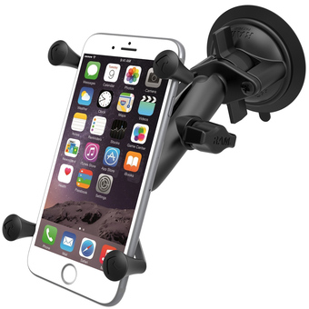 RAM Twist Lock Suction Cup Mount with Universal X-Grip® IV Large Phone-Phablet Holder