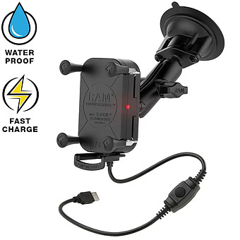 RAM-B-166-UN12W  Tough-Charge Wireless With X-Grip And Suction Mount