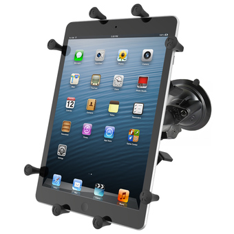 RAM-B-166-UN9U  RAM Twist Lock Suction Cup Mount with Universal X-Grip® Holder for 10inch Large Tablets