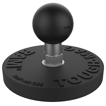 RAM-B-202-339U  RAM 2.5inch Round Base with the AMPs Hole Pattern, 1inch Ball and Triple Magnetic Base Adapter