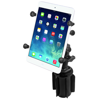 RAP-299-3-UN8U  RAM-A-CAN™ II Universal Cup Holder Mount with Universal X-Grip® Holder with 1inch Ball for 7inch Tablets