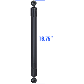 RAP-BB-230-18U  RAM 16.75inch Long Extension Pole with (2 qty) 1inch Diameter Ball Ends
