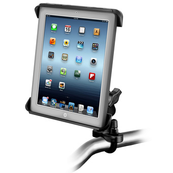 RAM-B-149Z-TAB3U  RAM Handlebar or Rail Mount with Tab-Tite™ Universal Clamping Cradle for the Apple iPad 1-4 WITH OR WITHOUT LIGHT DUTY CASE