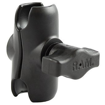 RAM-B-201U-A  RAM Short Double Socket Arm for 1inch Ball Bases (Overall Length: 2.38inch)