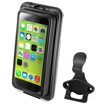 RAM-HOL-AQ7-2-15COURAM AQUA BOX® Pro 20 i5 Case with CRADLE CLIP for the iPhone 5, 5c and 5s WITHOUT CASE, SKIN OR SLEEVE