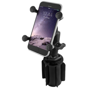 RAP-299-3-UN7BU  RAM-A-CAN  II Universal Cup Holder Mount with Universal X-Grip Cell-iPhone Holder