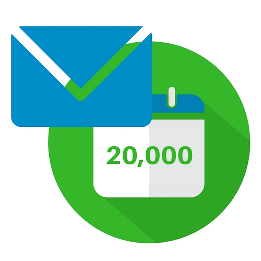 Up To 20,000 Emails Per Month Included Free - Image 1