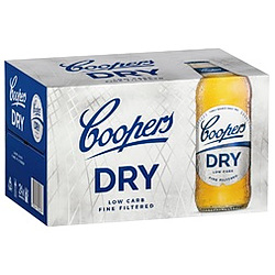 COOPERS DRY 4.2% 355ML BTL 24PK - BUY COOPERS AND GO INTO DRAW TO WIN!