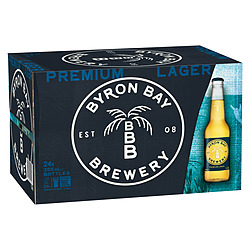 BYRON BAY BREWERY PREMIUM LAGER STUBBIES