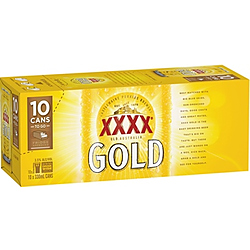 XXXX GOLD 330ML CANS 10PK