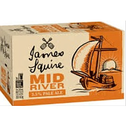 JAMES SQUIRE MID RIVER 3.5% 345ML STUBBIES
