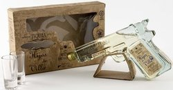 HIJOS DE VILLA REP TEQUILA PISTOL & 2 GLASSES 200ML