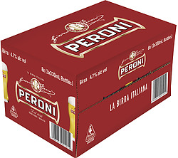 PERONI RED 330ML STUBBIES