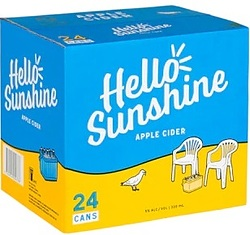 HELLO SUNSHINE APPLE CIDER CANS